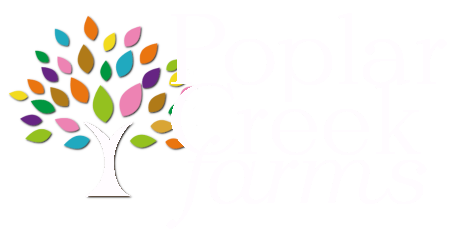 Poplar Creek Farms White Logo